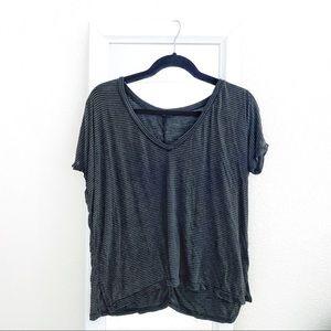 ☆ Brandy Melville • Striped v-neck
